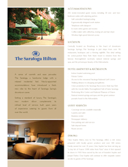 A sense of warmth and ease pervadesThe Saratoga, a handsome lodge with PowerPoint PPT Presentation