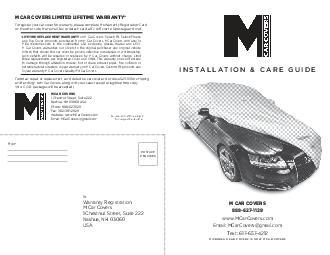 Car Cover Installation  Care Guide Microbead Car Covers  Chestnut Street Suite  Nashua NH  USA Phone  www
