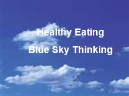 Healthy Eating PowerPoint PPT Presentation