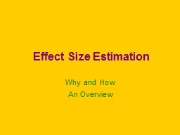 Effect Size Estimation