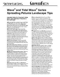 Important Notes for Growing & Using and Tidal WavePick the right Wave
