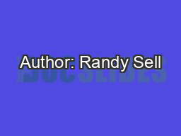 Author: Randy Sell