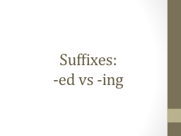 Suffixes: