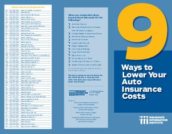 Ways to Lower Your Auto Insurance Costs State Insurance Departments AK  www