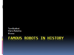 Famous Robots in History
