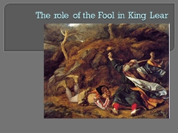 The role of the Fool in