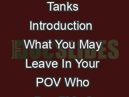 CONTENTS Page Topic Page Topic Index of VPC Contact Information  Propane Tanks Introduction  What You May Leave In Your POV Who Can Ship A POV  What You May ot Ship In Your POV Your ntitlement  Your