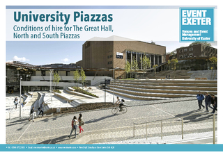University PiazzasConditions of hire for The Great Hall, North and Sou