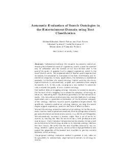Automatic Evaluation of Search Ontologies in the Entertainment Domain using Text