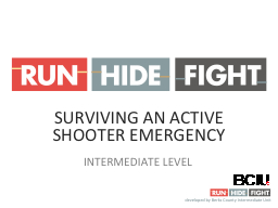 SURVIVING AN ACTIVE SHOOTER EMERGENCY