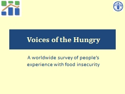 Voices of the Hungry PowerPoint PPT Presentation