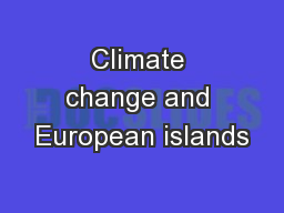 Climate change and European islands