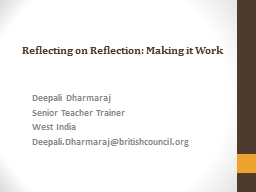 Reflecting on Reflection: Making it Work PowerPoint PPT Presentation