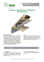 Certificate No. 03/0183 Detail Sheet 2/ Xtratherm Thin-R Pitched Roof