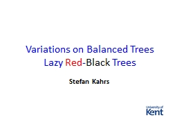 Variations on Balanced Trees PowerPoint PPT Presentation