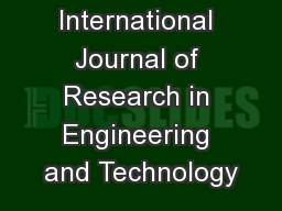 IJRET: International Journal of Research in Engineering and Technology