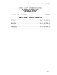 Placer County School Directory 20142015