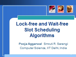 Lock-free and Wait-free Slot Scheduling Algorithms