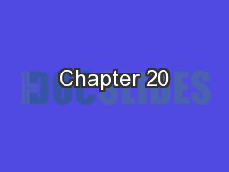 Chapter 20 PowerPoint PPT Presentation