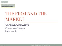 The Firm and the Market PowerPoint PPT Presentation