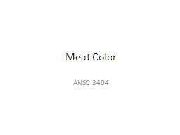 Meat Color PowerPoint PPT Presentation