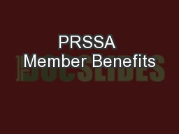 PRSSA Member Benefits