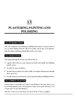 Plastering, Painting and Polishing :: 95