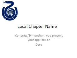 Local Chapter Name