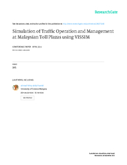 Simulation of Traffic Operation and Management PowerPoint PPT Presentation