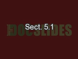 Sect. 5.1