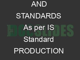 UPDATED PROJECT PROFILE ON ALUMINIUM CASTINGS PRODUCT CODE  QUALITY AND STANDARDS As per IS Standard PRODUCTION CAPACITY  MT per year MONTH AND YEAR OF March  PREPARATION PREPARED BY MSME Development