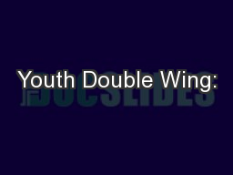 Youth Double Wing: