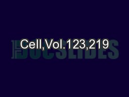 Cell,Vol.123,219