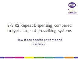 EPS R2 Repeat Dispensing compared to typical repeat prescri PowerPoint PPT Presentation