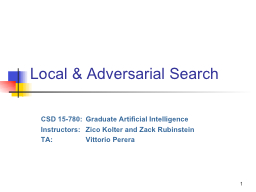 1 Local & Adversarial Search PowerPoint PPT Presentation