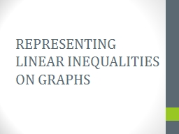 REPRESENTING LINEAR INEQUALITIES ON GRAPHS