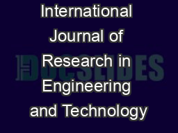 IJRET: International Journal of Research in Engineering and Technology PowerPoint PPT Presentation