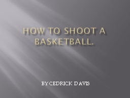 How to shoot a basketball.