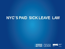 """"""" The benefits of paid sick leave extend far beyond the p PowerPoint PPT Presentation"""