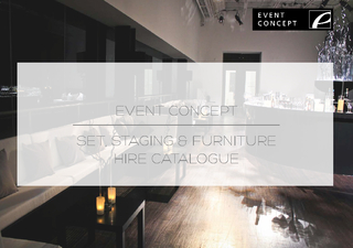 EVENT CONCEPTSET, STAGING & FURNITURE HIRE CATALOGUE