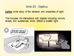 Unit 33 - Optics