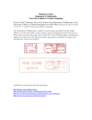 Postmarks Used by Department of Mathematics  of the Department of Math