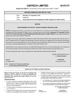 THNOTICE OF 40 ANNUAL GENERAL MEETING