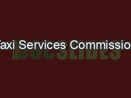 Taxi Services Commission