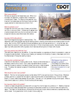 Potholes are caused by the freeze-thaw cycle.  When mois-contracts whe