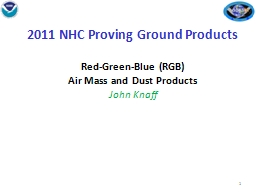2011 NHC Proving Ground Products