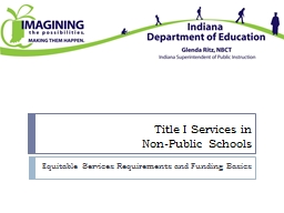 Title I Services in