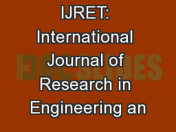 IJRET: International Journal of Research in Engineering an