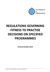 Fitness to Practise Regulations PowerPoint PPT Presentation