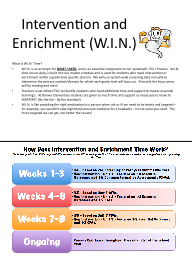Intervention and Enrichment (W.I.N.)
